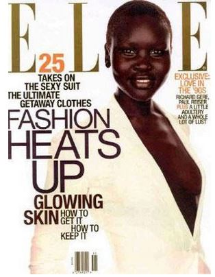 Alex Wek was the first African American to get the cover of ELLE magazine back in 1997. PHOTO: ELLE Magazine