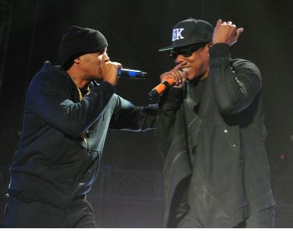 Nas and Jay-Z share the stage at Coachella. PHOTO: MTV