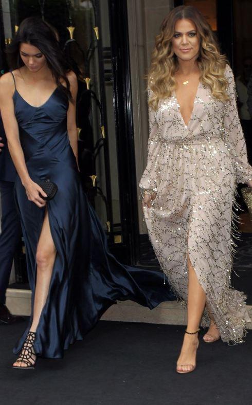 Kim's sisters, Kendall Jener and Khloe Kardashian. PHOTO: E! News