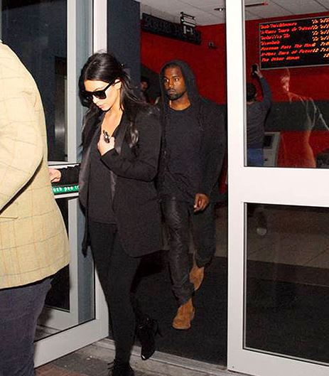 Kim Kardashian and Kanye West hit up a movie theater during their honeymoon in Ireland  PHOTO: Sunday World/Splash News Online.
