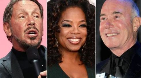 Oracle founder, Larry Ellison, Media Mogul, Oprah Winfrey and Music industry powerhouse, David Geffen. PHOTO: Getty Images